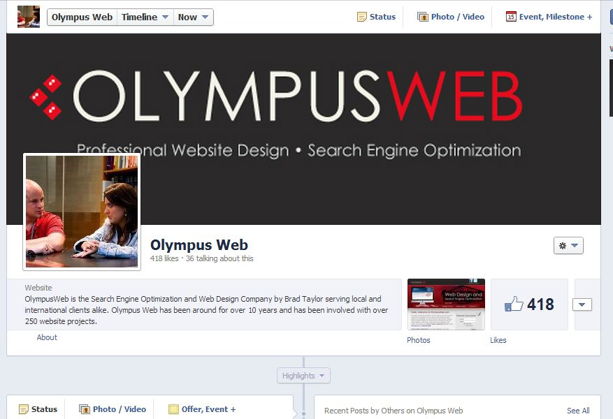 olympus-facebook-page