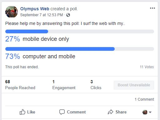 laptop vs mobile poll results