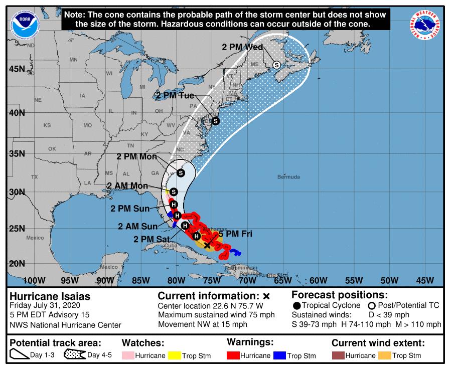 Hurricane Isiah - Brevard County Warning