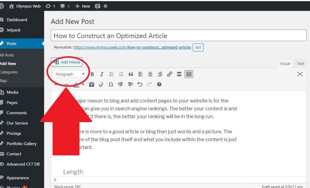 Article optimization